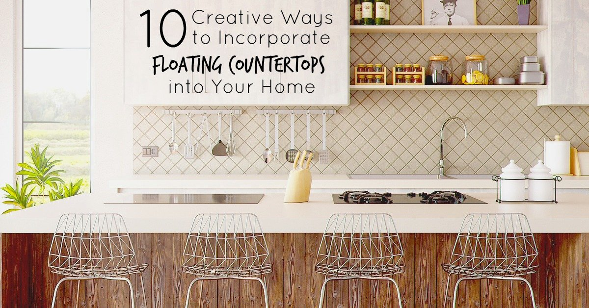 Ever wonder how you could get that floating countertop luck without spending thousands on a kitchen remodel? Here are 10 creative ways to incorporate floating countertops all over the house!
