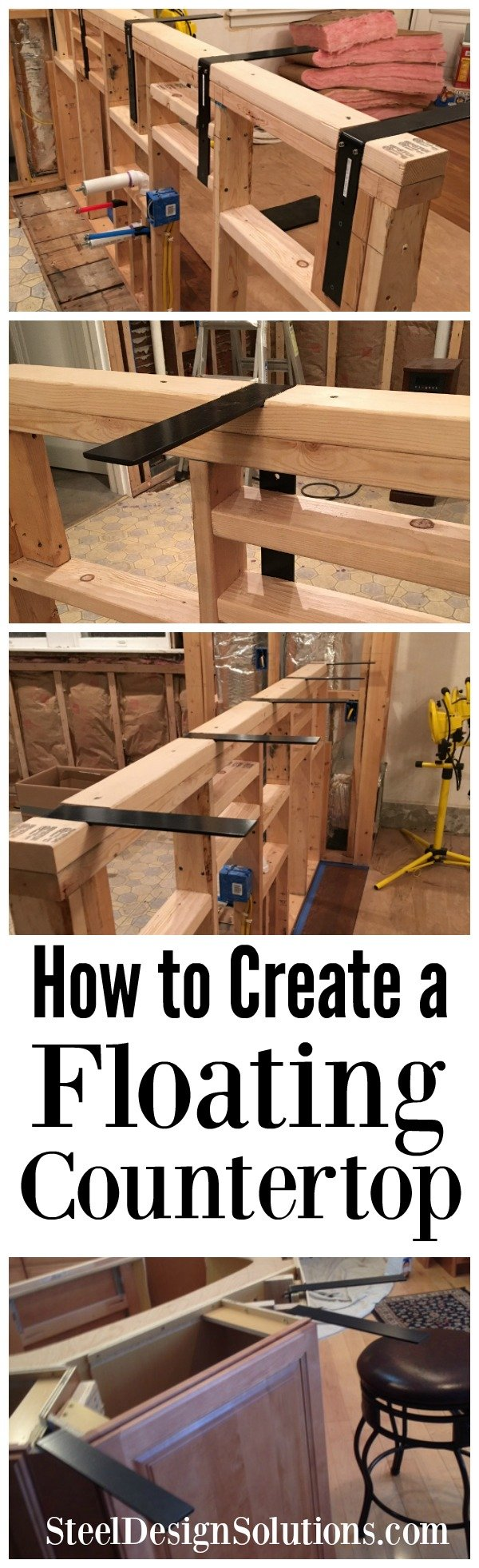 How To Create A Diy Floating Countertop Using The Floating Surface