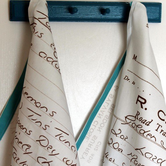 kitchen gifts, printed tea towel