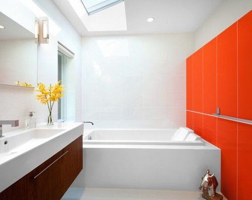 bold color in bathroom design