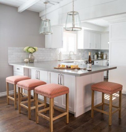 Kitchen by Dannielle Albrecht Designs with neutral countertop color