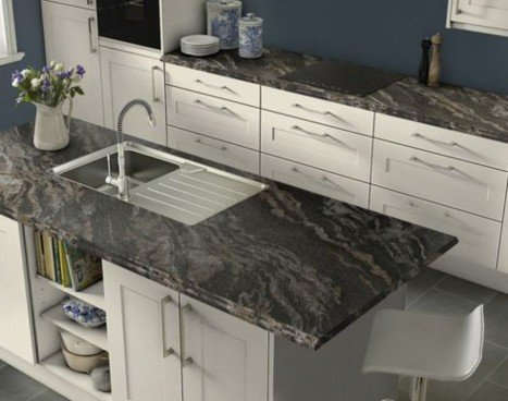 Kitchen with quartz countertops by Capitol Countertops
